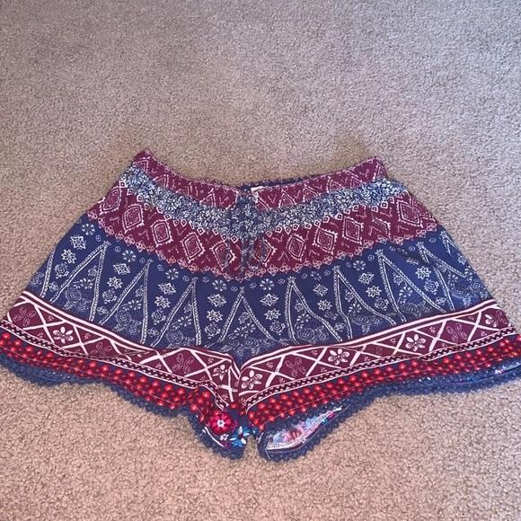 Hollister Pants - Hollister Multicolored Soft Shorts